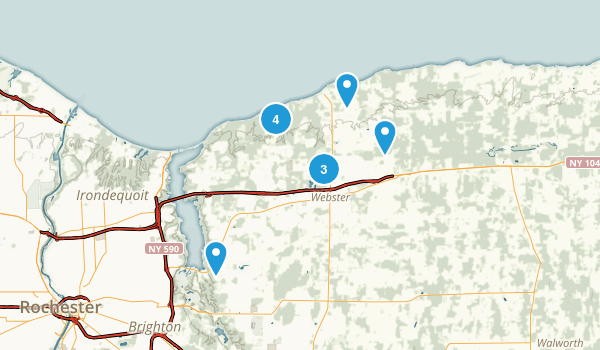 Webster, New York Hiking Map