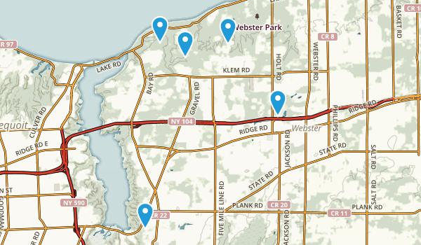 Webster, New York Mountain Biking Map