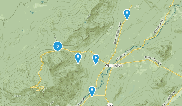 Wilmington, New York Dogs On Leash Map