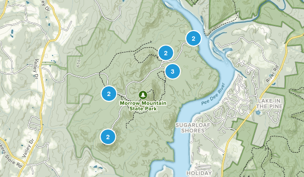Albemarle, North Carolina Hiking Map