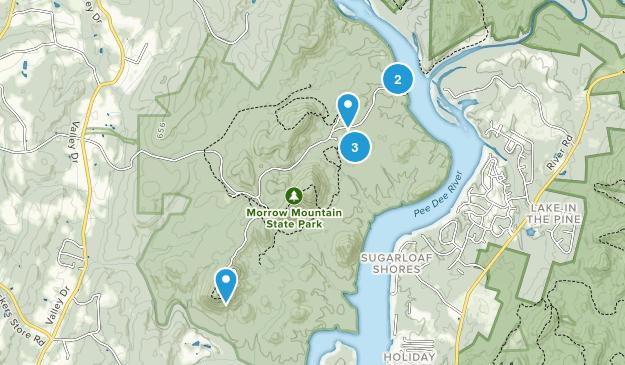 Albemarle, North Carolina Nature Trips Map