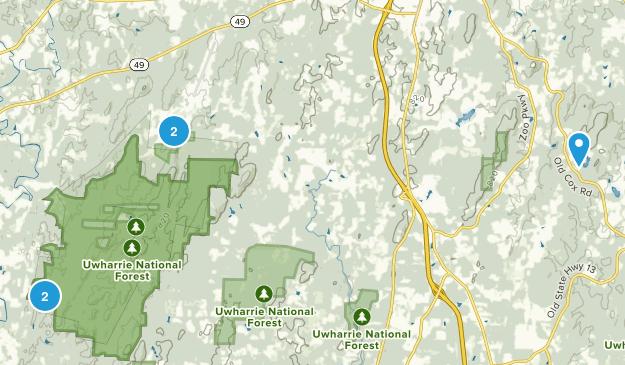 Asheboro, North Carolina Hiking Map