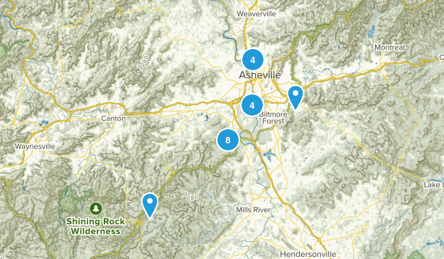 Asheville, North Carolina Kid Friendly Map