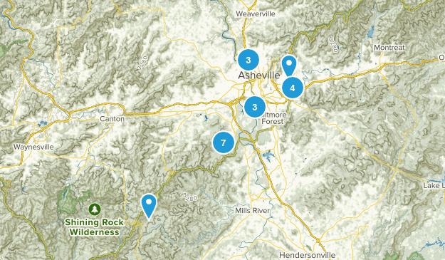 Asheville, North Carolina Walking Map