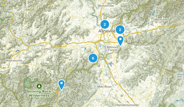 Asheville, North Carolina Wildlife Map