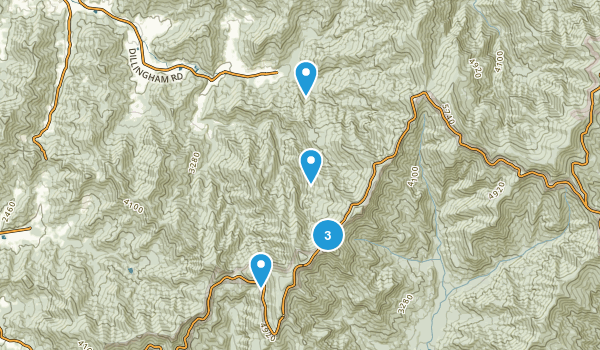 Barnardsville, North Carolina Dogs On Leash Map