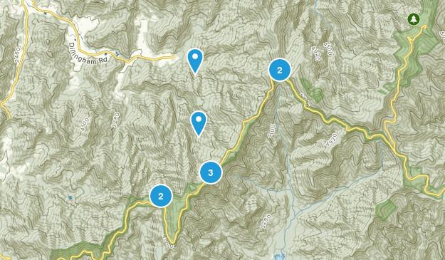 Barnardsville, North Carolina Hiking Map