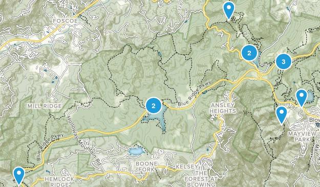 Blowing Rock, North Carolina Trail Running Map