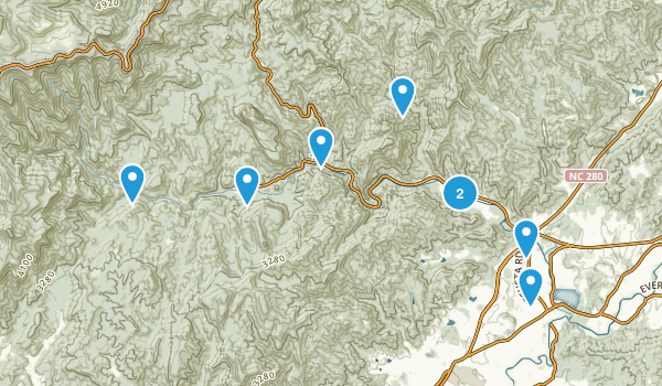 Best Dogs On Leash Trails Near Brevard North Carolina - Brevward map of us