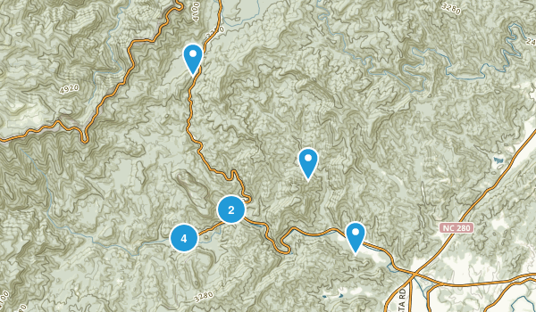 brevard north carolina waterfall map