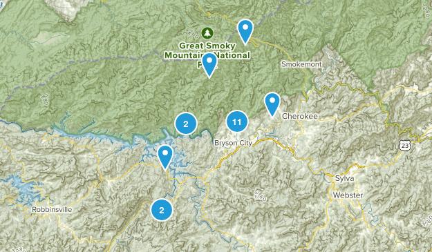 Bryson City, North Carolina Hiking Map