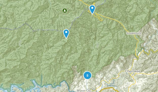Bryson City, North Carolina River Map