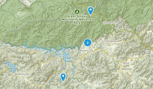 Bryson City, North Carolina Trail Running Map