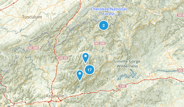 Burnsville, North Carolina Views Map