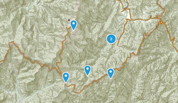 Busick, North Carolina Walking Map