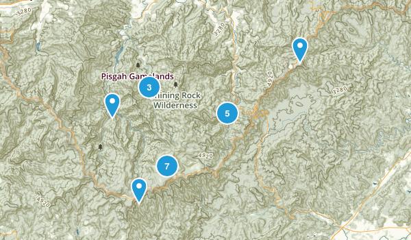 Canton, North Carolina Camping Map