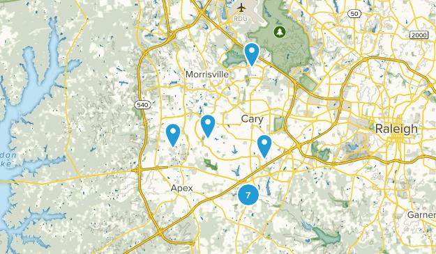Cary, North Carolina Birding Map