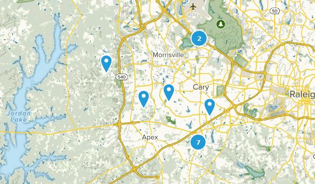 Cary, North Carolina Bird Watching Map