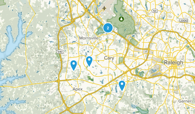 Cary, North Carolina Mountain Biking Map