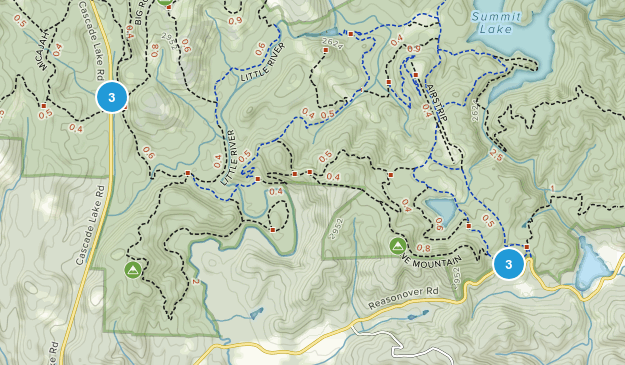 Cedar Mountain, North Carolina Forest Map
