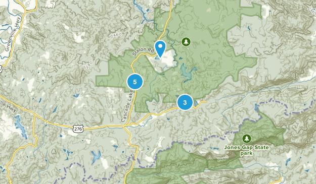 Cedar Mountain, North Carolina Mountain Biking Map