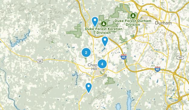 Chapel Hill, North Carolina Forest Map