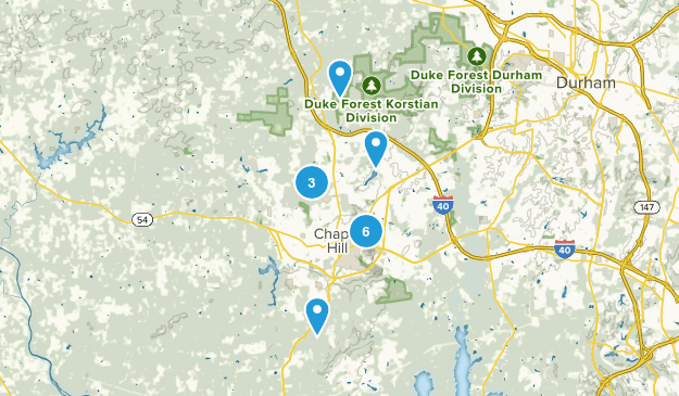 Chapel Hill, North Carolina Walking Map