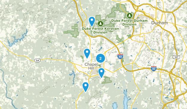 Chapel Hill, North Carolina Wild Flowers Map