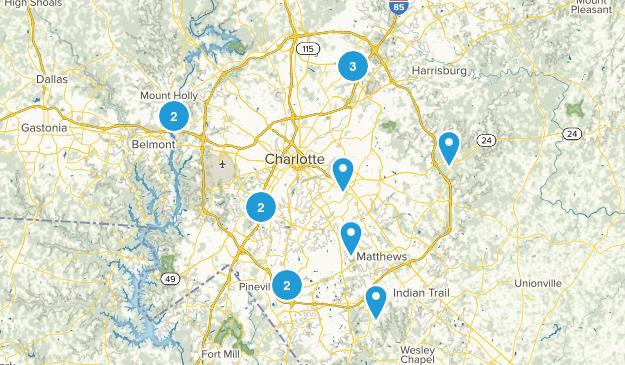 Charlotte, North Carolina Mountain Biking Map