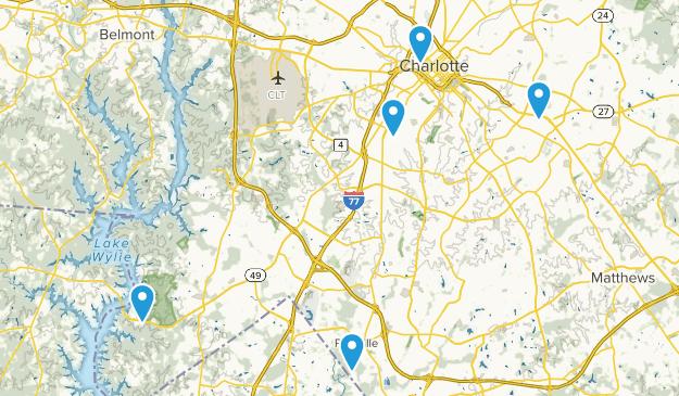 Best Stroller Friendly Trails Near Charlotte North Carolina Alltrails - Us-map-charlotte-nc