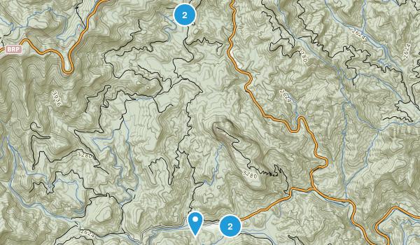 Ducktown, North Carolina Hiking Map