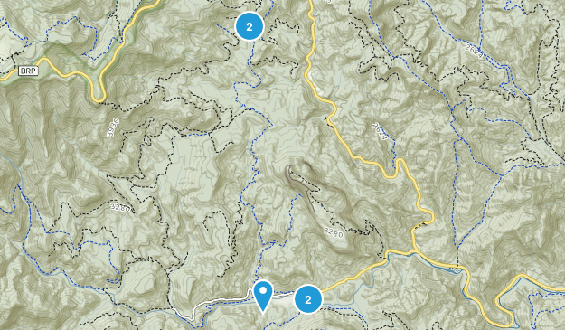 Ducktown, North Carolina Hiking Map