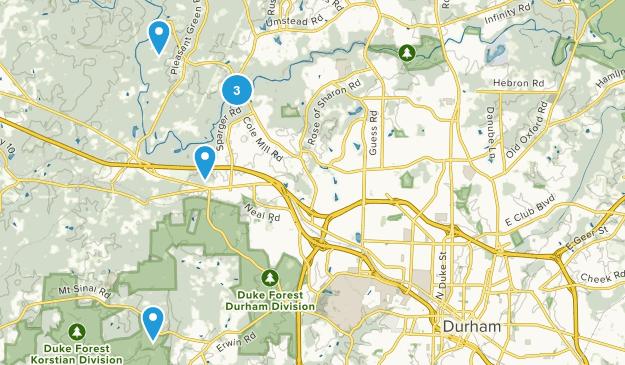 Durham, North Carolina Paddle Sports Map