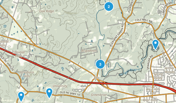Eno, North Carolina Hiking Map