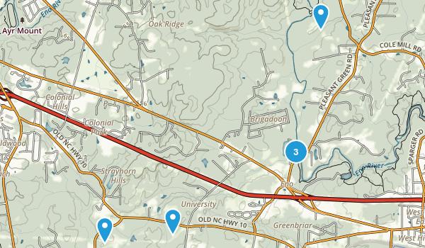 Eno, North Carolina Nature Trips Map