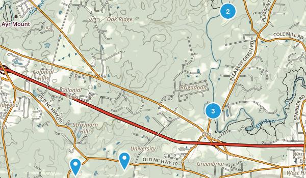 Eno, North Carolina Walking Map