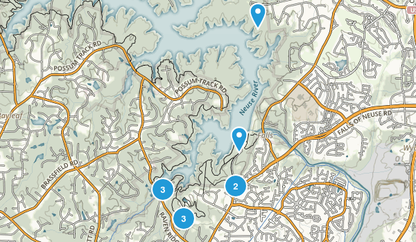 Falls, North Carolina Hiking Map