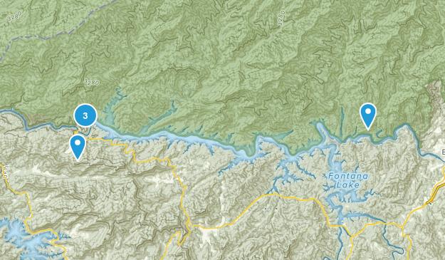 Fontana Dam, North Carolina Hiking Map