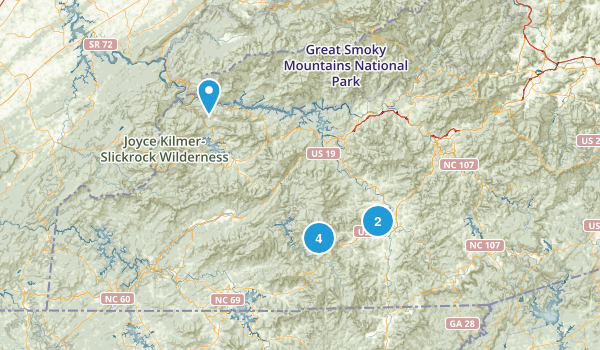 Franklin, North Carolina Nature Trips Map