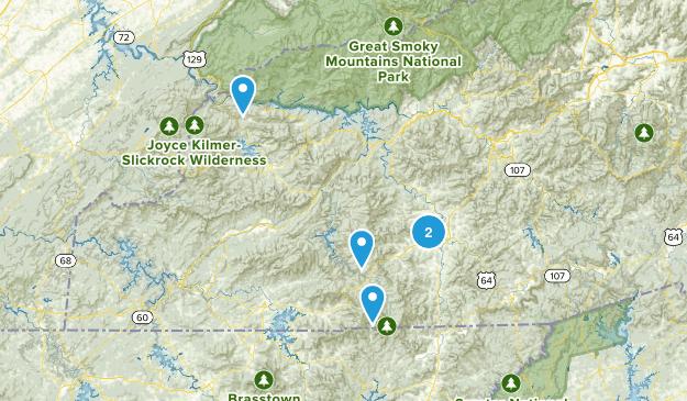 Franklin, North Carolina Trail Running Map