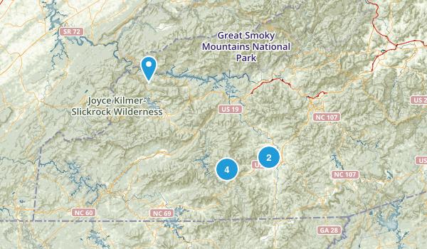 Franklin, North Carolina Walking Map