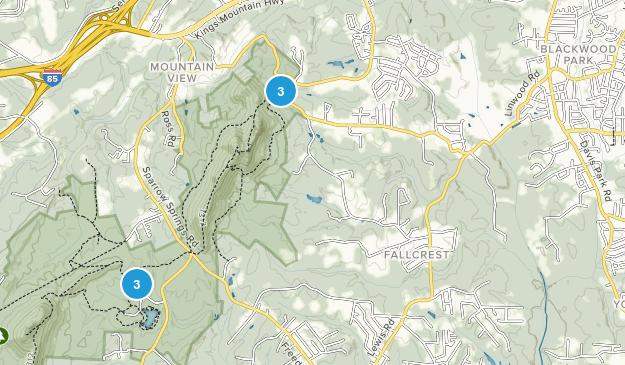 Gastonia, North Carolina Nature Trips Map