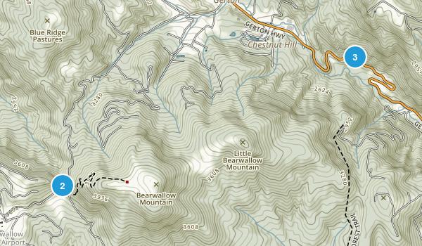 Gerton, North Carolina Walking Map