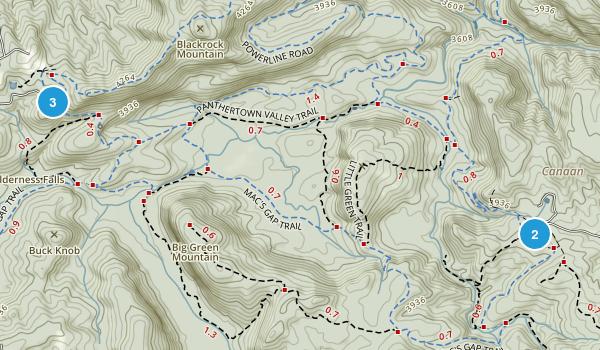 Glenville, North Carolina Trail Running Map