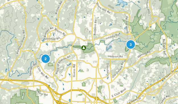 Havenhill, North Carolina Hiking Map