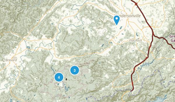 Hendersonville, North Carolina Birding Map