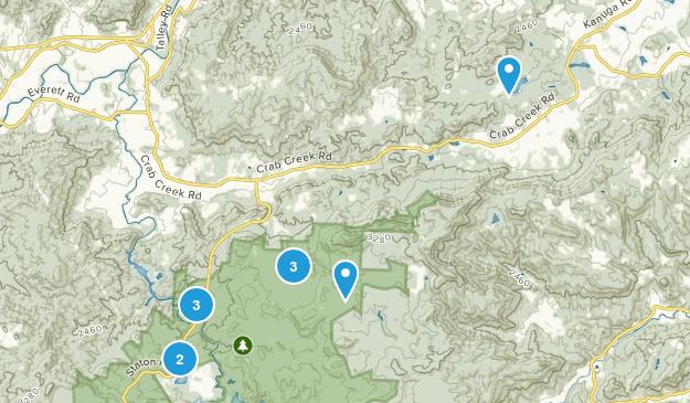 Hendersonville, North Carolina Hiking Map
