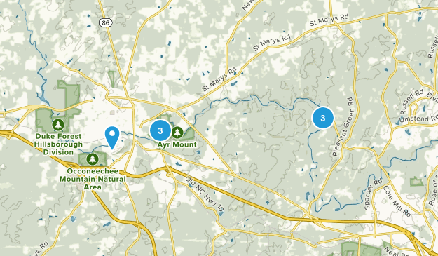 Hillsborough, North Carolina Birding Map