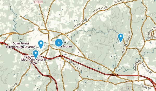 Hillsborough, North Carolina Views Map