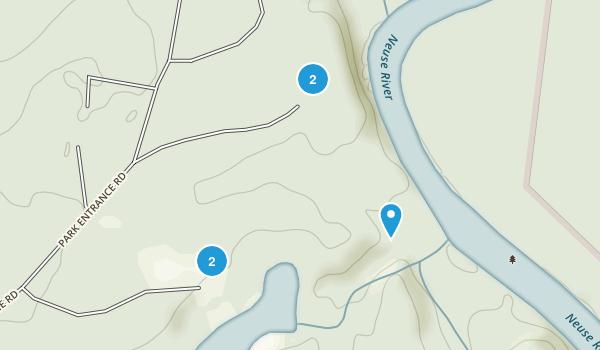 Hines Crossroads, North Carolina Camping Map